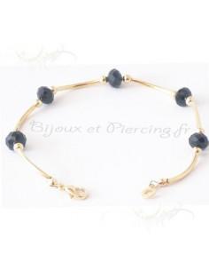 Bracelet en Plaqué Or et zirconium