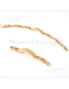 Bracelet plaqué or style gourmette