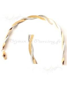 Bracelet tressé bicolore de qualité