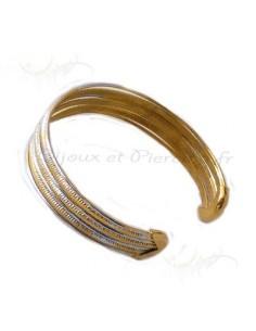 Bracelet  martélée aspect cuivre et acier