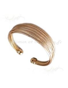 bracelet métal tréssé acier
