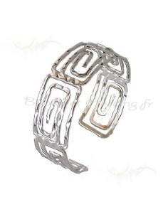 Bracelet structuré blanc métal