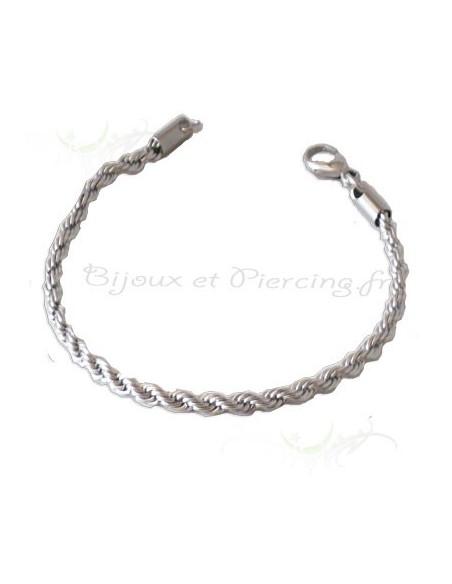 Bracelet pour homme raffiné en acier