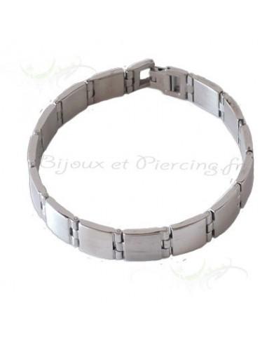 Bracelet acier style gourmette