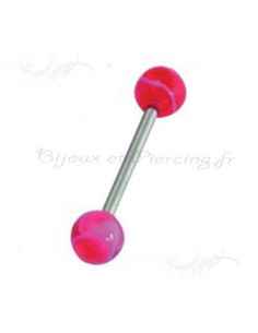 Piercing de langue barbell acrylique