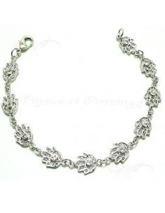 Bracelet plaqué argent main de Fatma