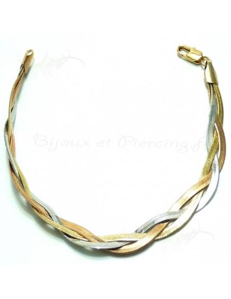 Bracelet torsadé Bicolore