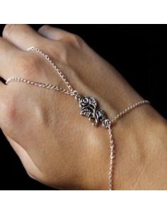 Chaine de doigt - coeur incrusté de zircon