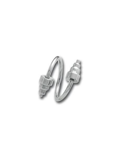 Micro Spirale bijoux d'arcade haltere pour homme fort