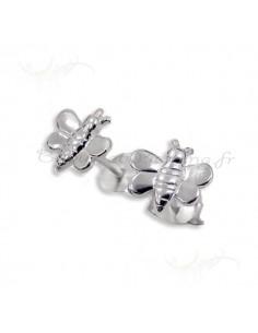 boucles d oreilles en argent papillon