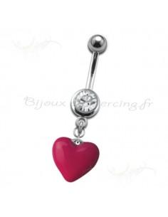Piercing de coeur en pendentif - bijou de qualité