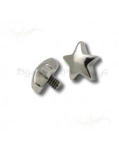 Accessoires piercing de surface - étoile
