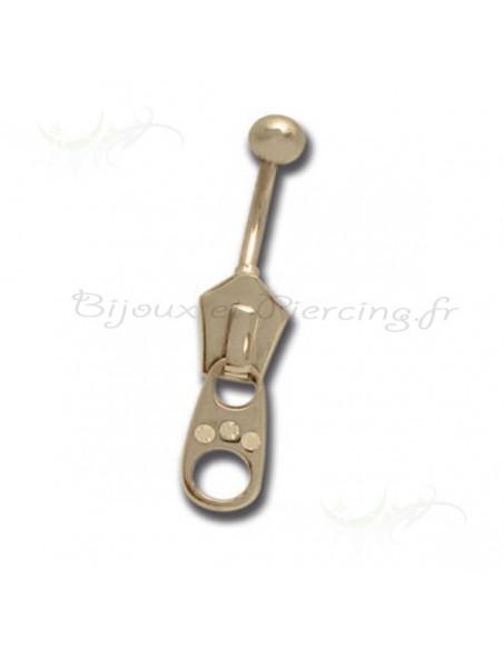 Piercing nombril attache fermeture zippé