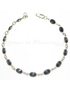 Bijoux - bracelet plaqué or et belles pierres
