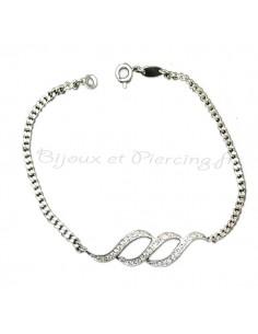 Magnifique bracelet en argent fin
