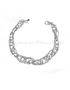 bracelet fil argentés pour femme