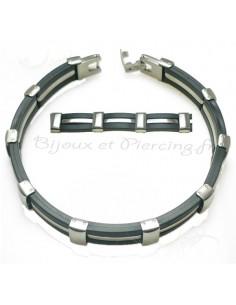 Bracelet Homme acier et acrylique