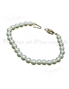bracelet perles de Majorque de toute beauté