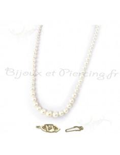 Collier perles plusieurs diametres majorque
