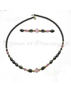 Collier de stars et perle noire
