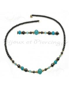Bijou de perle noire - collier raz du cou