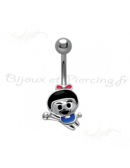 Piercing nombril figurine fillette
