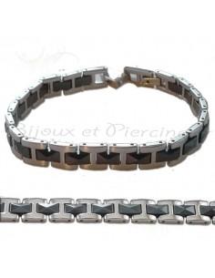 Bracelet acier homme sensuel et de qualité