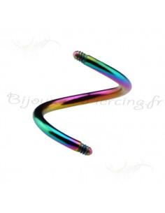 Spirale colorées en titane - accessoires de piercing