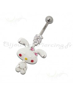 Piercing nombril lapin mignon