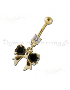 Piercing nombril papillon virevoltant