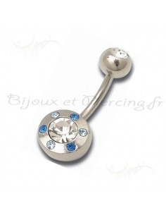 Piercing nombril pierres scintillantes