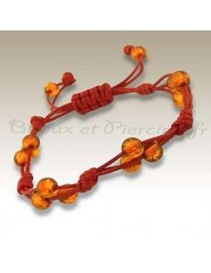 Bracelet brésilien coton et perle