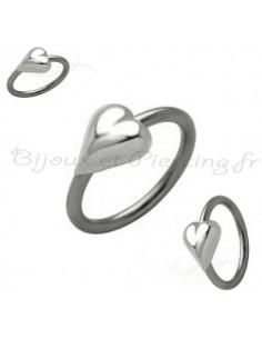 Piercing circulaire Joli coeur
