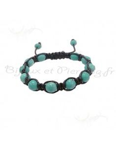 Bracelet tibétain pierres turquoises