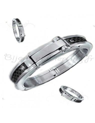 Bracelet homme - acier original et élegant