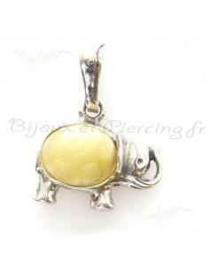 Bijoux pendentifs ambre petit élephanteau