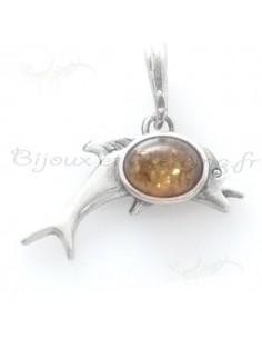 Bijoux pendentifs ambre dauphin merveilleux