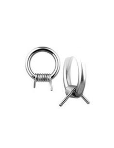Piercing anneau BCR barbellé en acier chirugical 316L