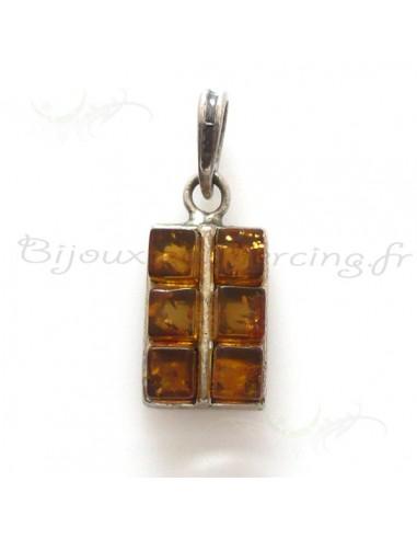 Tablette de chocolat ambre marron