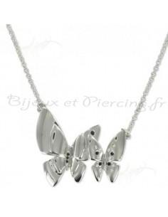 Collier papillon d'acier