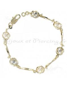 bracelet plaqué or perle