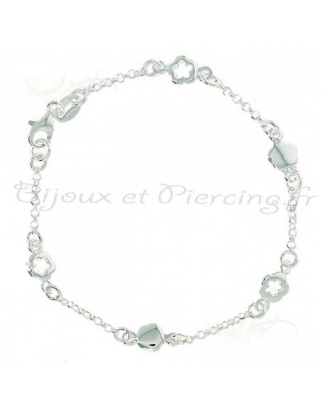 Bracelet argent tréfles - bijoux de marque