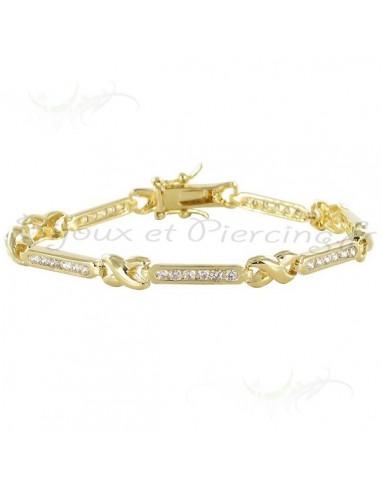 Bracelet plaqué or étoile