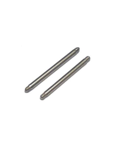 Barre Piercing Barbell droit de 1.2 mm en acier chirugical 316 L