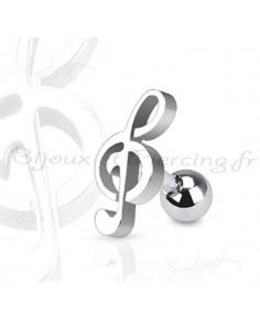 Piercing Cartilage Tragus note de musique