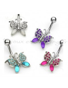 Piercing nombril papillon de charme