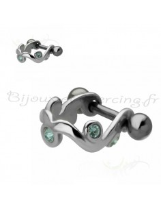 Piercing cartilage bouclier vague