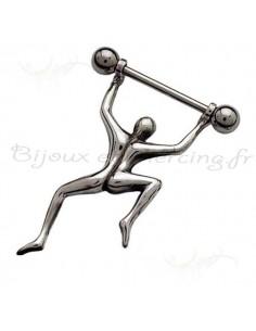 Piercing téton gymnaste