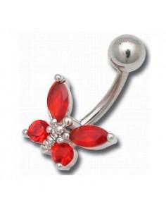 body piercing papillon cristal zwarovski
