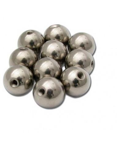 Boules titane en element de piercing pour tige de 1.2 mm